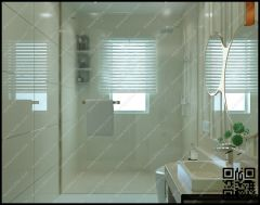 grey night pattern tile shower area and glass partition with glass door
