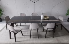 Apollo Arviro Aspendos Dining Table Set With Black Italian